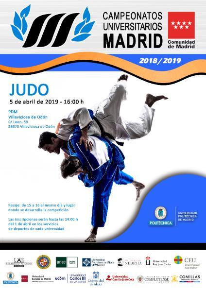 Campeonato de Madrid de Judo Universitario 2019